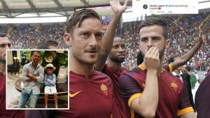 Pjanić objavio fotografiju sa sinom, Totti se nije uspio sudržati da ne komentariše