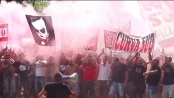 Euforija u Milanu: Navijači Rossonera priredili spektakl