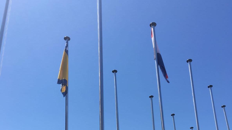 Podignuta zastava Bosne i Hercegovine u Meditranskom selu u Tarragoni
