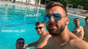 Jedni u Neretvi, a drugi u bazenu: Igrači Željezničara znaju kako da uživaju