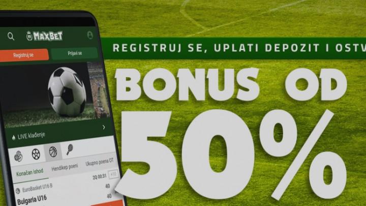 Bonus dobrodošlice u MaxBetu: Registruj se, uplati depozit i uzmi bonus od 50%