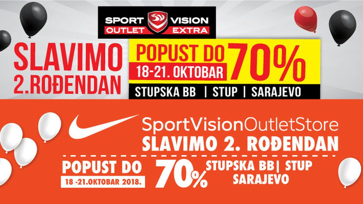 Sport Vision Outleti na Stupu slave 2. rođendan