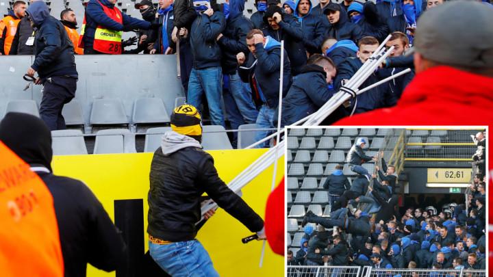 Pogledajte veliki sukob navijača Dortmunda i Schalkea koji se desio jučer nakon utakmice