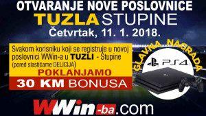 Wwin nagrađuje: Registrujte se u novoj poslovnici u Tuzli i osvojite PlayStation 4