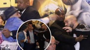 Pljunuo protivnika na press konferenciji pa ga pokušao i udariti mikrofonom