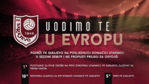 FK Sarajevo nagrađuje dva navijača putovanjem s ekipom u Evropu!