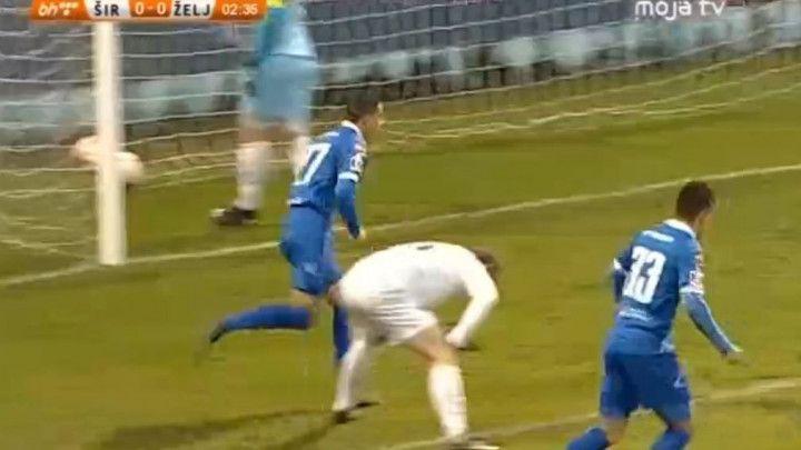 Menalo iskoristio konfuziju Željine odbrane i pogodio za 1:0