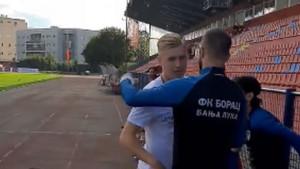 Vladan Danilović se oprostio od saigrača na treningu Borca