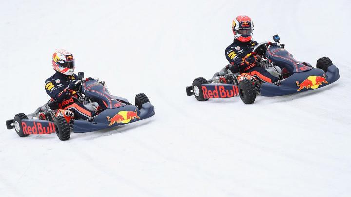 Verstappen i Gassly vozili karting na stazi za brzo klizanje