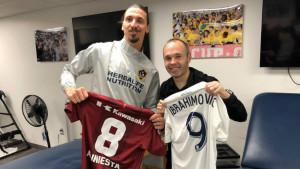 Susret dvojice bivših igrača Barcelone Ibrahimovića i Inieste u Los Angelesu