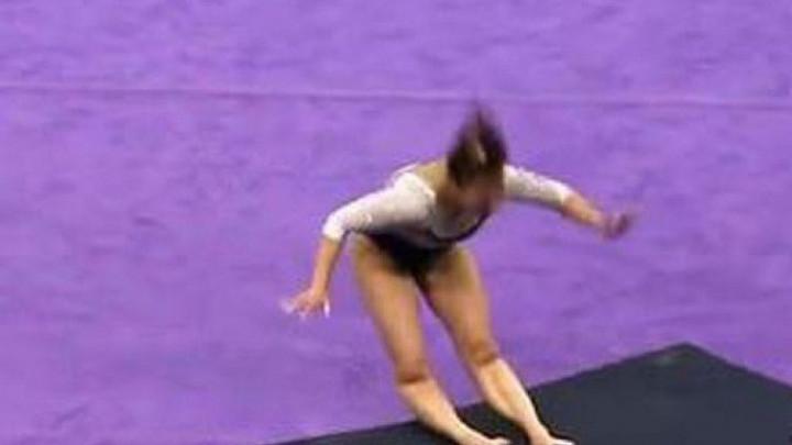 Uznemirujući snimak: Gimnastičarka slomila obje noge prilikom doskoka
