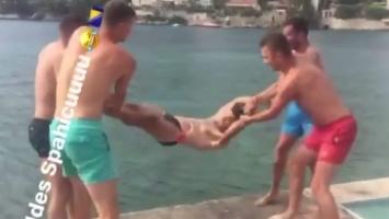 Džeko objavio video: Spahić završio u moru