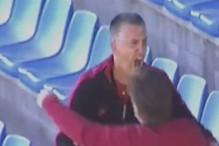 Trener Čelik u transu nakon što je sudija odsvirao kraj