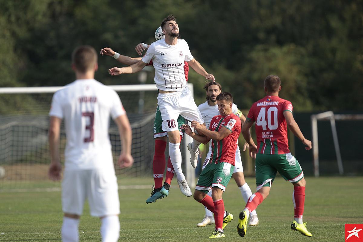 Nesvakidašnja situacija u 77. minuti utakmice Olimpik - Sarajevo