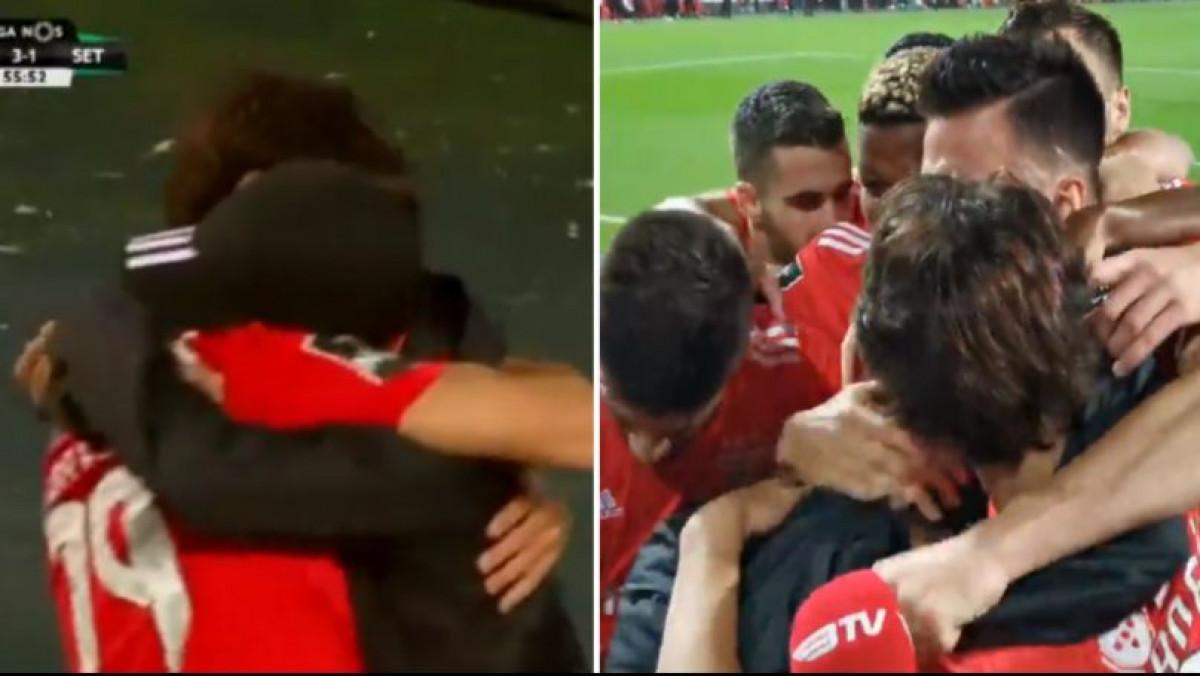 Benficin tinejdžer zabio gol, pa otrčao u zagrljaj mlađem bratu koji je sakupljao lopte