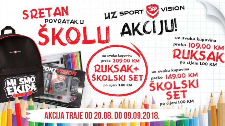 Sport Vision školarce za školu sprema