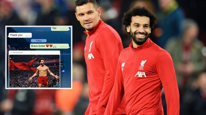 """Lovren čestitao Salahu, a on mu """"greškom"""" poslao fotografiju: """"Šta je pisac htio reći?"""""""