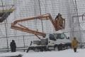Snijeg srušio zaštitnu ogradu na Koševu