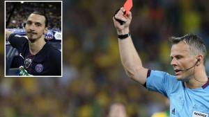 """Poznati sudija žali zbog crvenog kartona Zlatanu: """"Usporeni snimak pokazuje da je bio žuti"""""""
