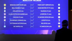 Određeni termini odigravanja svih utakmica osmine finala Lige prvaka
