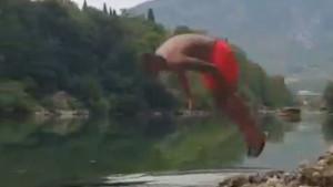 Fejsal Mulić se osvježio u Neretvi, ali se nije proslavio skokom na glavu