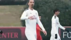 Prvi kadrovi Zlatana Ibrahimovića u akciji - od povratka u Milan