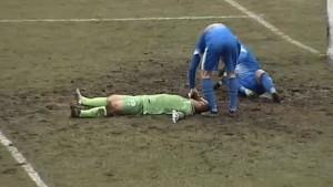 Fejzić dobio težak udarac, ostao na travnjaku bez svijesti