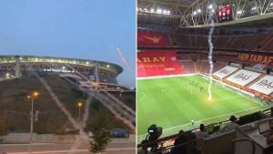 Ima li ko luđi:  Lansirali baklje da prekinu derbi Galatasaray - Fenerbache i uspjeli su