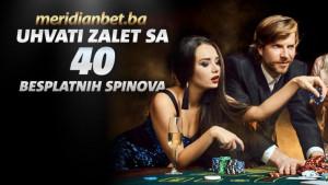 Ekskluzivno u Meridianu: Zavrtite najbolji online kazino i osvojite 40 besplatnih spinova!