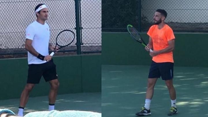 Miske ih 'otkrio': Federer i Džumhur treniraju skupa u Dubajiu