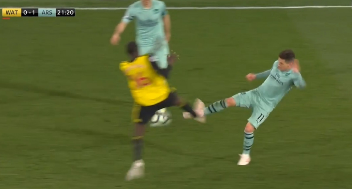 Arsenal je žestoko oštećen, Watford je trebao dobiti i drugi crveni karton
