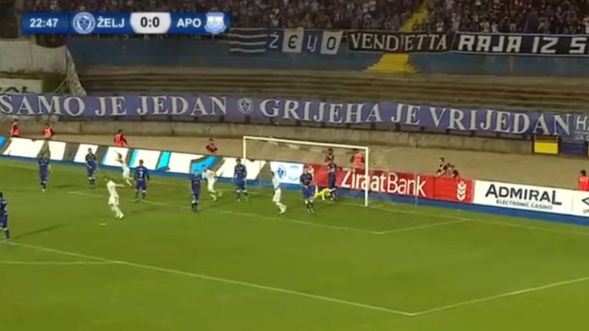 Željezničar primio jeftin gol, Apollon poveo na Grbavici