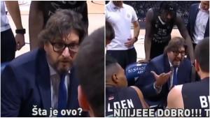 Trener Partizana poludio na time-outu: Nije dobro!