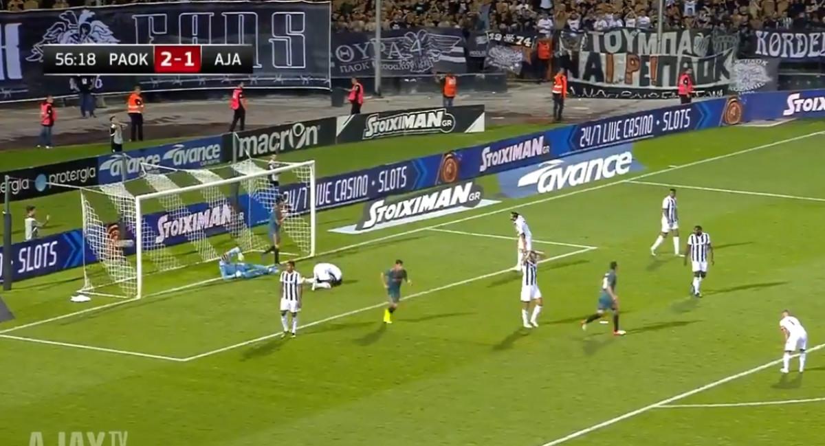 Nekada je u utakmicama potrebno imati i sreće, PAOK je večeras očigledno nema