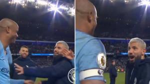 """Kompany zaplakao od sreće, a onda mu je prišao Sergio Aguero i sve """"pokvario"""""""