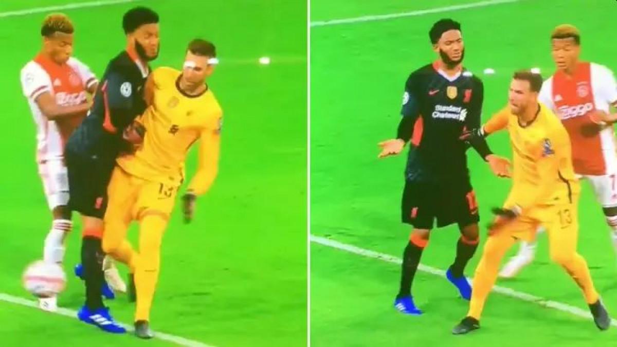 """Golman Liverpoola """"faulirao"""" svog igrača kojem se to nimalo nije svidjelo"""