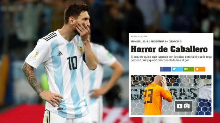 "Naslovi argentinskih medija su pravi hit: ""Horor Caballera"", ""Argentina je ruglo SP-a"""