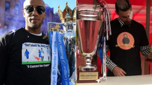 I Manchester City ima svog Stanojevića: Kompany na proslavi titule majicom privlačio pažnju