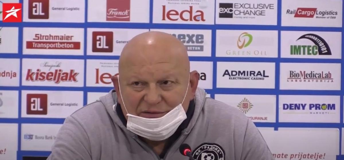 Slavko Petrović čestitao Željezničaru: Oni se ne bore za Evropu nego za titulu