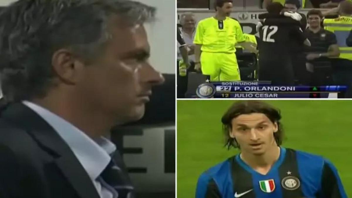 Utakmica kada je Zlatan molio Mourinha da ga izvede iz igre, a on potom zamijenio golmana