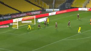 Fudbaler Nantesa neće spavati danima i noćima: U idelnoj poziciji napucao je sam sebe