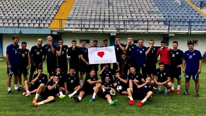 Nogometaši i stručni štab GOŠK-a uputili čestitke Koziću