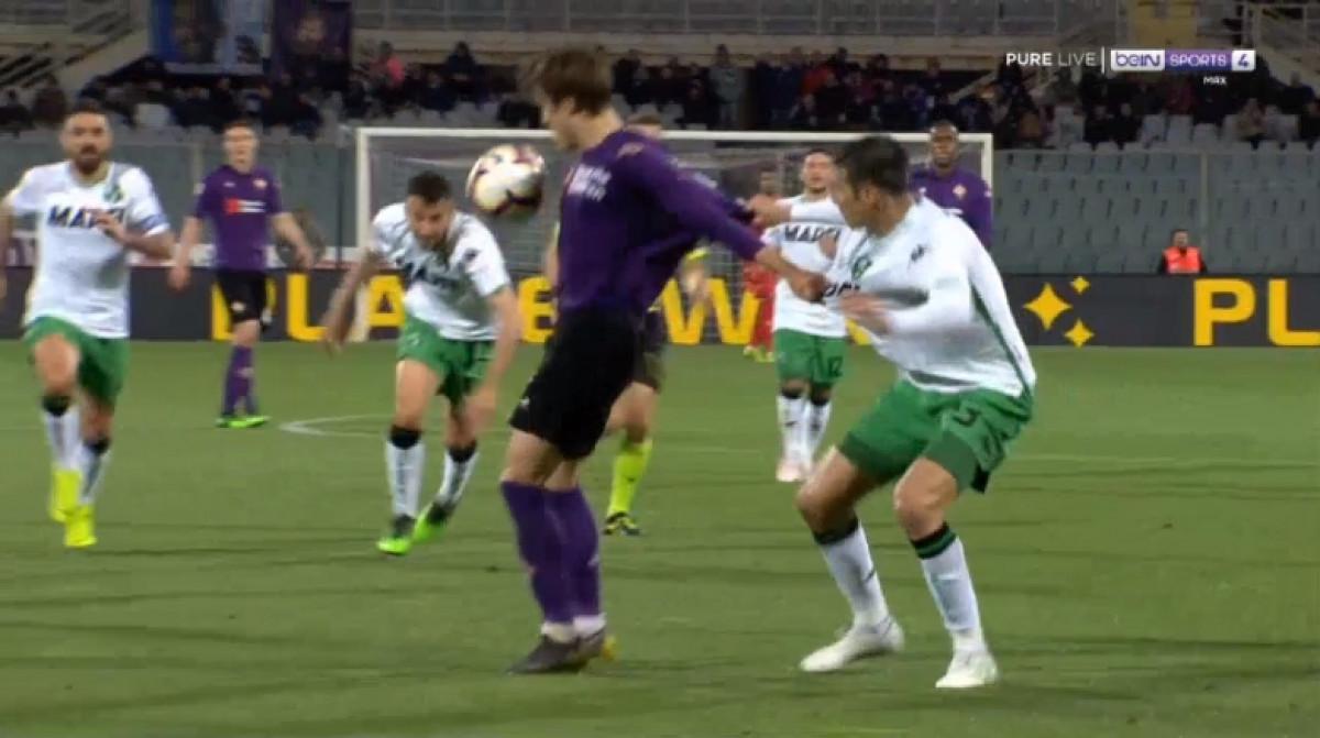 Fiorentina je promašila penal protiv Sassuola, ali je nejasno zašto ga je uopšte i dobila