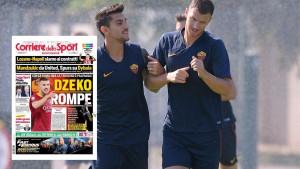 "Džeko na naslovnici lista Corriere dello Sport: ""Napetost je opipljiva"""