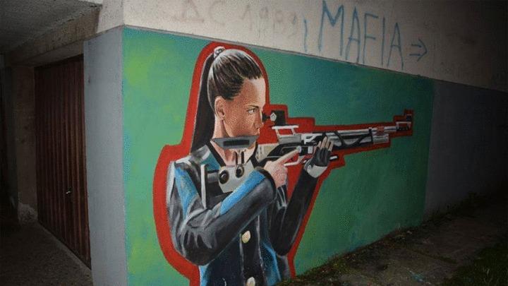 Tatjana Đekanović dobila mural u Tesliću
