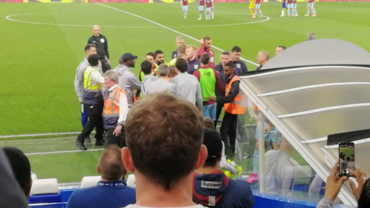Fizički obračun na Stamford Bridgeu, Rudiger u prvom planu