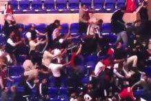 Pogledajte tuču na tribinama stadiona u Lyonu