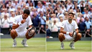 Zašto je Novak Đoković jučer jeo travu nakon pobjede protiv Rogera Federera?