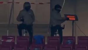 Neobično zagrijavanje fudbalera Atletica na tribinama: Joao Felix se nije odvajao od grijalice