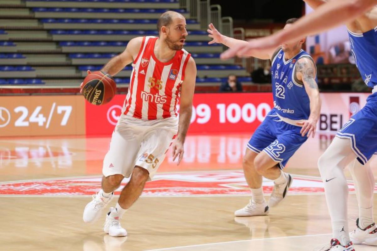 U prvoj utakmici ABA lige u 2021. godini Crvena zvezda rutinski pobijedila Zadar